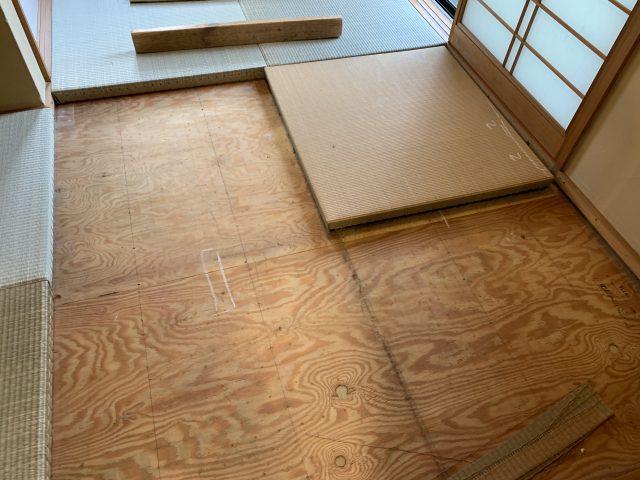 琉球畳の張替え工事